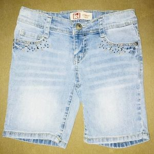 VTG Girl's Embellished Jean Shorts Sz7